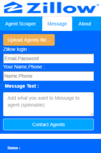 Zilow Messaging Bot message screen